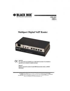 Multiport Digital VoIP Router