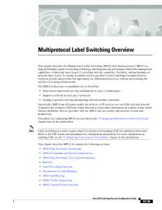 Multiprotocol Label Switching Overview