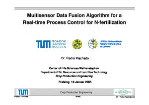 Multisensor Data Fusion Algorithm for a Real-time Process Control for N-fertilizationN