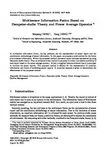 Multisensor Information Fusion Based on Dempster-shafer Theory and Power Average Operator