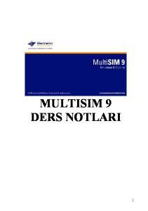 MULTISIM 9 DERS NOTLARI