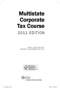 Multistate Corporate Tax Course