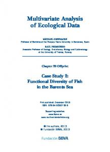 Multivariate Analysis of Ecological Data