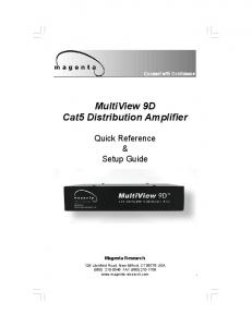 MultiView 9D Cat5 Distribution Amplifier