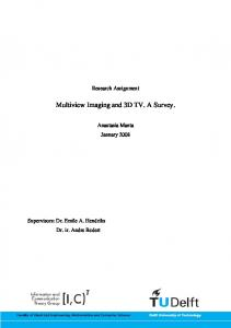 Multiview Imaging and 3D TV. A Survey