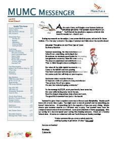 MUMC MESSENGER June 2015 Volume 20 Issue 5