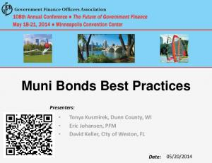 Muni Bonds Best Practices