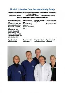 Munich Intensive Care Outcome Study Group