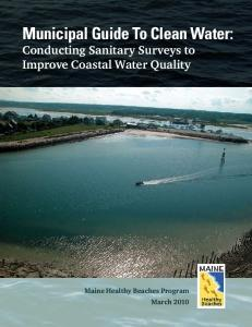Municipal Guide To Clean Water: Conducting Sanitary Surveys to Improve Coastal Water Quality