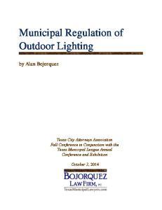Municipal Regulation of Outdoor Lighting