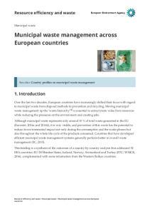 Municipal waste management across European countries