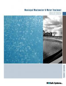 Municipal Wastewater & Water Treatment