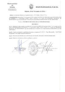Municipalidad de Rafaela Intendencia Rafaela, 28 de Noviembre de