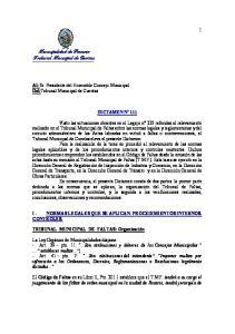 Municipalidad de Rosario Tribunal Municipal de Cuentas