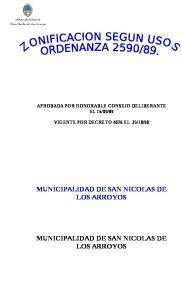 MUNICIPALIDAD DE SAN NICOLAS DE LOS ARROYOS