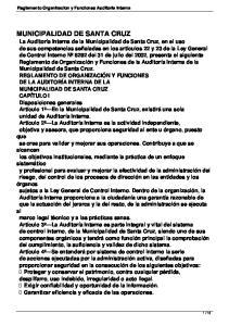 MUNICIPALIDAD DE SANTA CRUZ