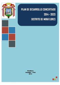 Municipalidad Distrital de Miraflores Plan de Desarrollo Concertado