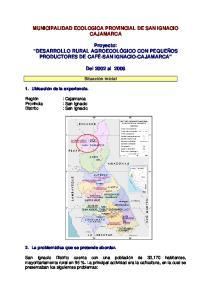 MUNICIPALIDAD ECOLOGICA PROVINCIAL DE SAN IGNACIO CAJAMARCA