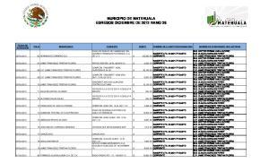 MUNICIPIO DE MATEHUALA EGRESOS DICIEMBRE DE 2012 RAMO 28