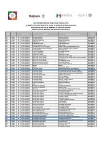 MUNICIPIO ESTABLECIMIENTO DE SALUD CLUES