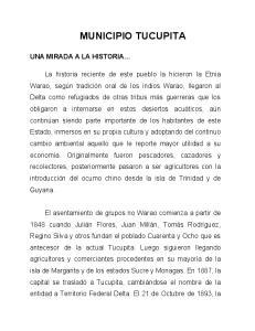 MUNICIPIO TUCUPITA UNA MIRADA A LA HISTORIA