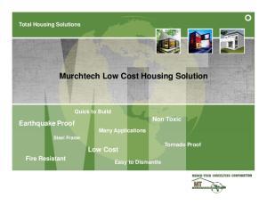Murchtech Low Cost Housing Solution