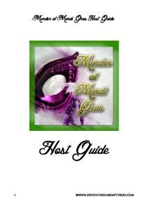 Murder at Mardi Gras Host Guide. Host Guide 1