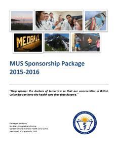 MUS Sponsorship Package