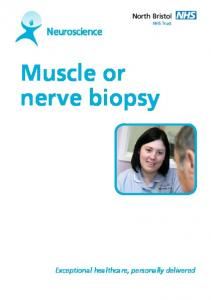 Muscle or nerve biopsy