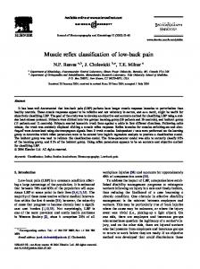 Muscle reflex classification of low-back pain