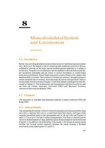 Musculoskeletal System and Locomotion