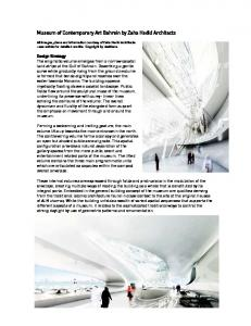 Museum of Contemporary Art Bahrain by Zaha Hadid Architects