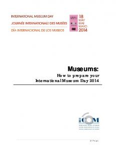 Museums: How to prepare your International Museum Day 2014
