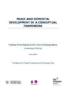 MUSIC AND DEMENTIA: DEVELOPMENT OF A CONCEPTUAL FRAMEWORK