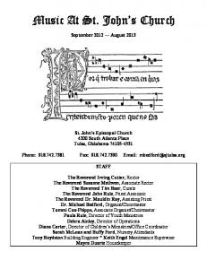 Music At St. John s Church