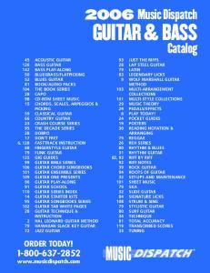Music Dispatch GUITAR & BASS. Catalog. ORDER TODAY!
