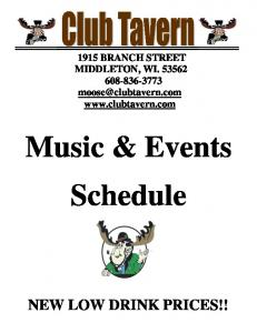 Music & Events Schedule