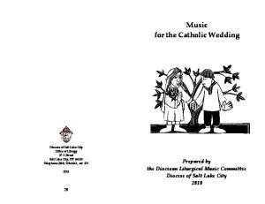 Music for the Catholic Wedding