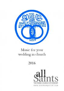 Music for your wedding in church