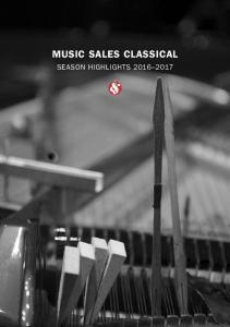 MUSIC SALES CLASSICAL SEASON HIGHLIGHTS