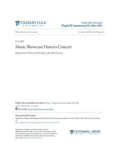 Music Showcase Honors Concert