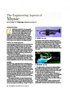 Music. The Engineering Aspects of