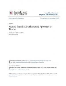 Musical Sound: A Mathematical Approach to Timbre