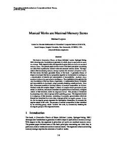 Musical Works are Maximal Memory Stores