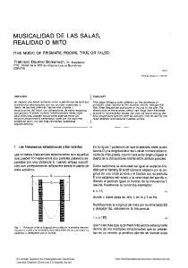 MUSICALIDAD DE LAS SALAS, REALIDAD O MITO