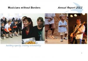 Musicians without Borders Annual Report 2012