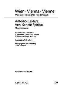 Musik der kaiserlichen Residenzstadt. Antonio Caldara Veni Sancte Spiritus