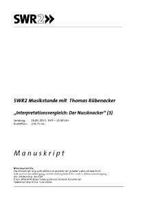 MUSIK: TSCHAIKOWSKY, DER NUSSKNACKER, CD 1, TRACK 1 (3:05)