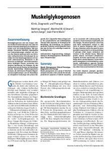 Muskelglykogenosen. Klinik, Diagnostik und Therapie
