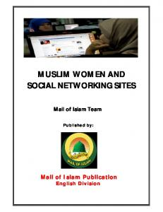MUSLIM WOMEN AND SOCIAL NETWORKING SITES